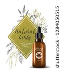 natural herbal cosmetic. 3d... | Shutterstock .eps vector #1284050515