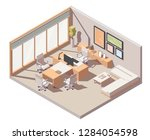 vector isometric ceo office... | Shutterstock .eps vector #1284054598