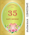 anniversary 35 years  birthday  ... | Shutterstock .eps vector #1284055645