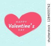 valentine day congratulation... | Shutterstock .eps vector #1284055762