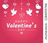 happy valentine day or wedding... | Shutterstock .eps vector #1284055768
