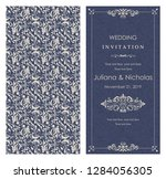 wedding invitation cards ... | Shutterstock .eps vector #1284056305