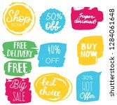 set of sale labels. hand drawn... | Shutterstock .eps vector #1284061648