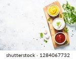 set of sauces   ketchup ... | Shutterstock . vector #1284067732