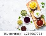 set of sauces   ketchup ...   Shutterstock . vector #1284067735