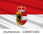 flag of salzburg is a state of... | Shutterstock . vector #1284071302