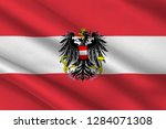 flag of republic of austria is... | Shutterstock . vector #1284071308