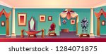 vector castle museum hall with... | Shutterstock .eps vector #1284071875