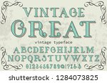 font typeface handcrafted... | Shutterstock .eps vector #1284073825