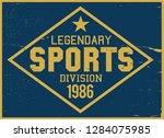 vintage varsity vector graphics ... | Shutterstock .eps vector #1284075985