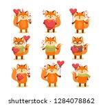 vector set of cute cartoon...   Shutterstock .eps vector #1284078862