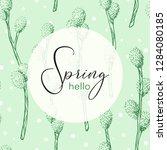 hello spring vector hand drawn... | Shutterstock .eps vector #1284080185