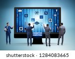 cognitive computing concept as...   Shutterstock . vector #1284083665