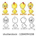 llustration of a cute little... | Shutterstock . vector #1284094108
