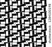 abstract vector monochrome... | Shutterstock .eps vector #1284100198