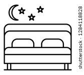 pension bedroom icon. outline...   Shutterstock .eps vector #1284118828
