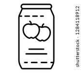 apple juice tin can icon.... | Shutterstock .eps vector #1284118912