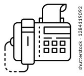 fax icon. outline fax vector... | Shutterstock .eps vector #1284119092