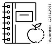 homework clean notebook icon.... | Shutterstock .eps vector #1284119095