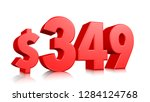 349  three hundred and forty... | Shutterstock . vector #1284124768