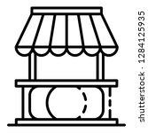 street kiosk icon. outline... | Shutterstock .eps vector #1284125935