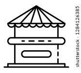 kiosk icon. outline kiosk... | Shutterstock .eps vector #1284126385