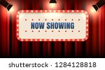 theater or cinema frame with... | Shutterstock .eps vector #1284128818