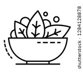 spinach bowl icon. outline... | Shutterstock .eps vector #1284128878
