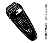waterproof electric shaver icon.... | Shutterstock .eps vector #1284129202
