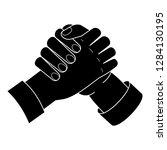 brotherhood handshake icon.... | Shutterstock .eps vector #1284130195