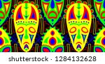 seamless folk pattern. ethnic... | Shutterstock .eps vector #1284132628