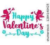little fairy in valentine day...   Shutterstock .eps vector #1284140425