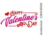 happy valentine day hand drawn...   Shutterstock .eps vector #1284140428