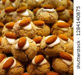 pistachio dry pastry. | Shutterstock . vector #1284140875