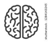 brain linear vector icon... | Shutterstock .eps vector #1284143245