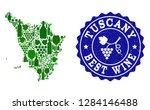 vector collage of wine map of... | Shutterstock .eps vector #1284146488