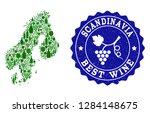 vector collage of wine map of... | Shutterstock .eps vector #1284148675