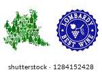 vector collage of wine map of... | Shutterstock .eps vector #1284152428