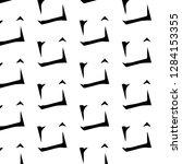 abstract vector monochrome... | Shutterstock .eps vector #1284153355