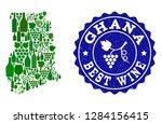 vector collage of wine map of... | Shutterstock .eps vector #1284156415