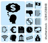 set of 17 business icons ...   Shutterstock .eps vector #1284158848