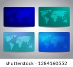 gift cards or discount cards or ... | Shutterstock .eps vector #1284160552