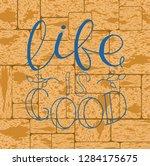 calligraphy inspirational quote.... | Shutterstock .eps vector #1284175675