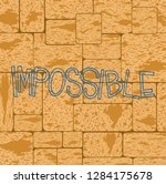 impossible shirt quote... | Shutterstock .eps vector #1284175678