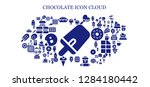 chocolate icon set. 93 filled...   Shutterstock .eps vector #1284180442