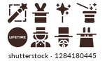 illusion icon set. 8 filled...   Shutterstock .eps vector #1284180445