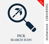 pick search icon. editable pick ... | Shutterstock .eps vector #1284185002