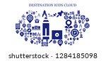 destination icon set. 93... | Shutterstock .eps vector #1284185098