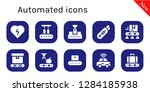 automated icon set. 10 filled... | Shutterstock .eps vector #1284185938