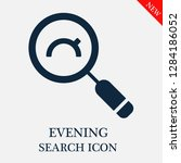 evening search icon. editable... | Shutterstock .eps vector #1284186052